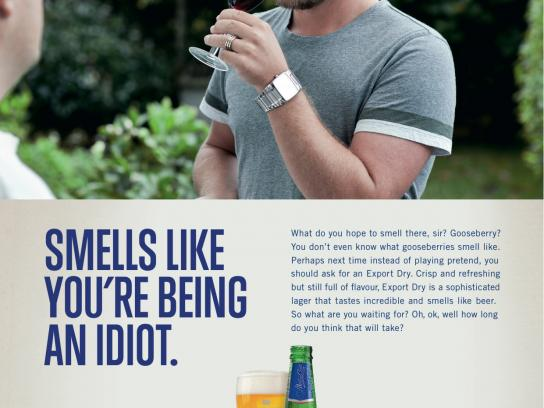 DB Export Dry Print Ad -  Idiot