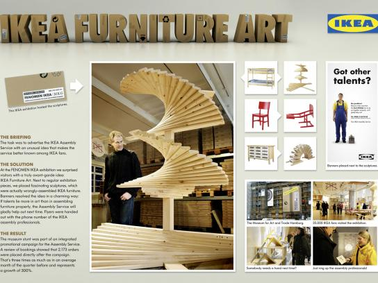 IKEA Ambient Ad -  Furniture Art