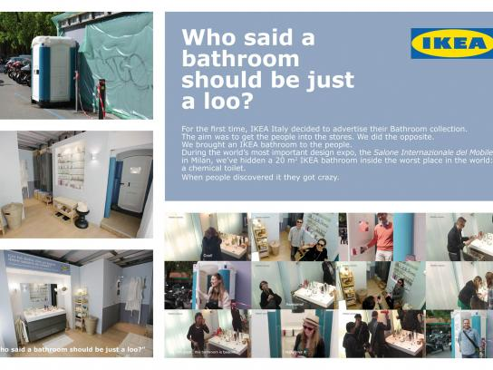 IKEA Ambient Ad -  Who said a bathroom should be just a loo?