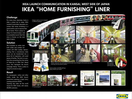 IKEA Outdoor Ad -  Home furnishing liner