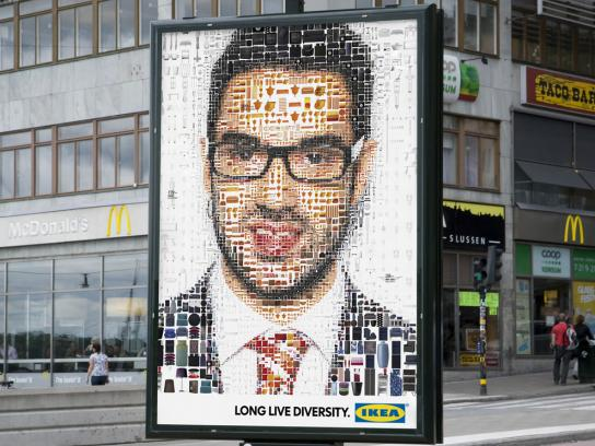 IKEA Outdoor Ad -  Face, 2