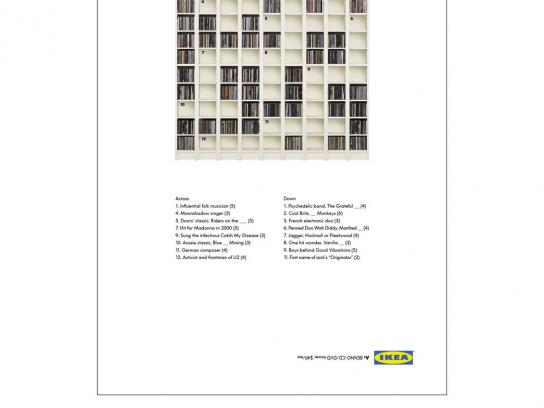 IKEA Print Ad -  Crossword puzzle