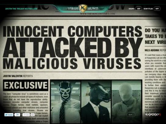 Kaspersky Digital Ad -  Virus Hunt