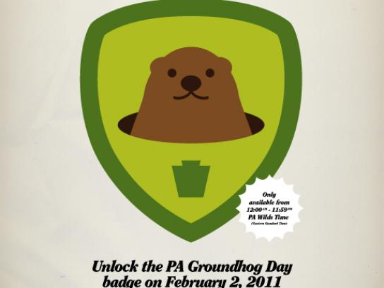 Pennsylvania Tourism Print Ad -  PA Groundhog Day
