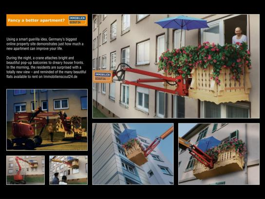 Immobilien Ambient Ad -  Pop-Up Balcony