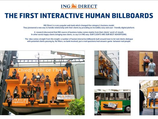 ING Ambient Ad -  Human Billboards