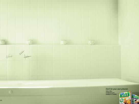 Nutri Ativa Print Ad -  Bathroom, 2