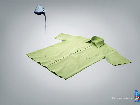 Clorox Print Ad -  Ink Spill