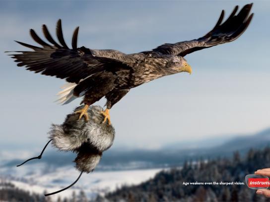 Instru Optiikka Print Ad -  Eagle
