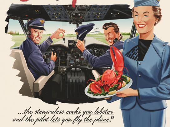 Ramon Rubial Print Ad -  Plane
