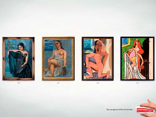 Instru Optiikka Print Ad -  Picasso