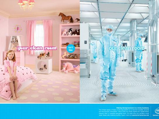 Intel Print Ad -  Clean room