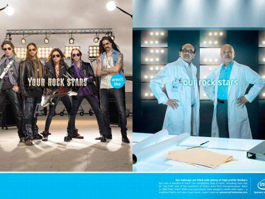 Intel Print Ad -  Rock stars