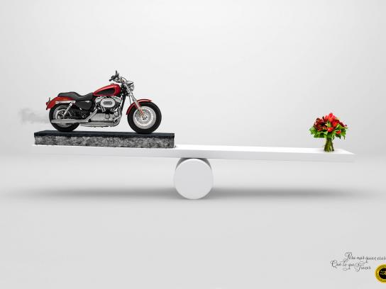 Interflora Print Ad -  Motorcycle