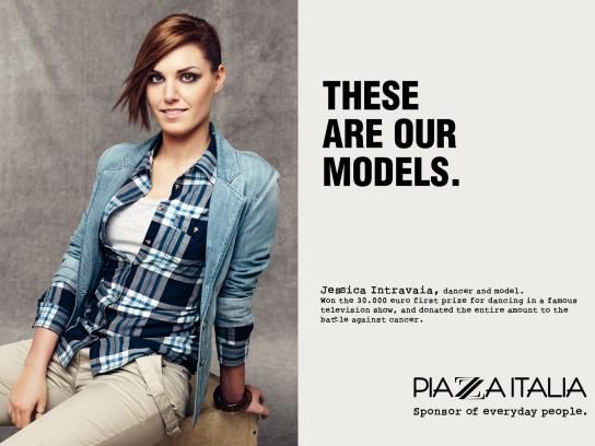 Piazza Italia Print Ad -  Our models, Intravaia