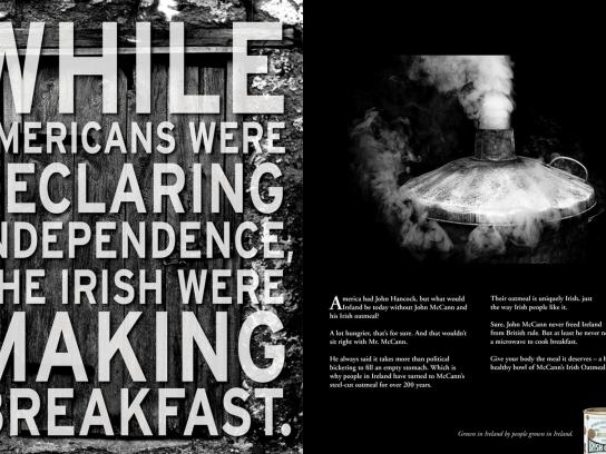 McCann's Print Ad -  Independence