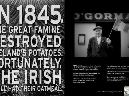 McCann's Print Ad -  Great famine