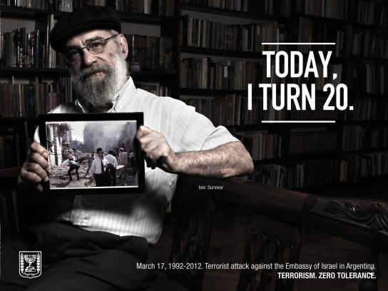 Embassy of Israel Print Ad -  Survivors 20 Years Later, Iser