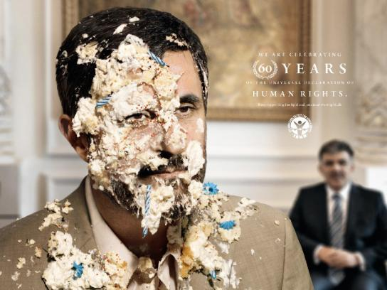 International Society for Human Rights Print Ad -  Ahmadinejad