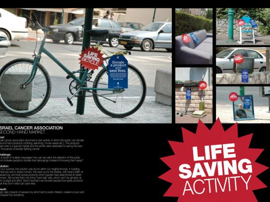 Israel Cancer Association Ambient Ad -  Second hand market