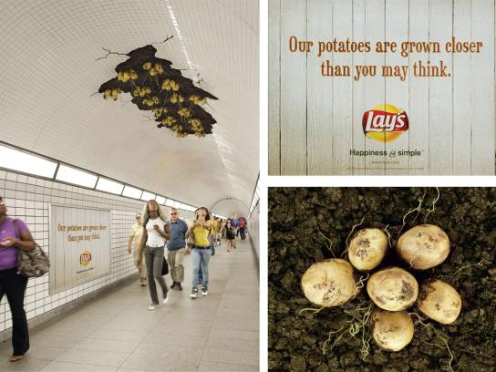 Lay's Outdoor Ad -  Potatoes Installation