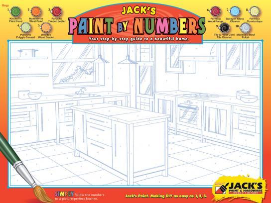 Jack's Paint & Hardware Print Ad -  Kitchen
