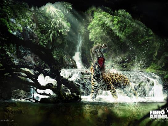 Fiero Animals Print Ad -  Jaguar Monkey