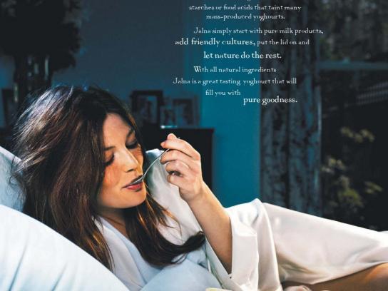 Jalna Yoghourt Print Ad -  Sense of purity