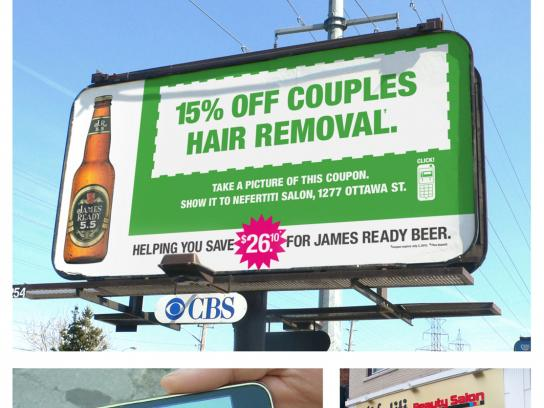 James Ready Outdoor Ad -  Hair Removal