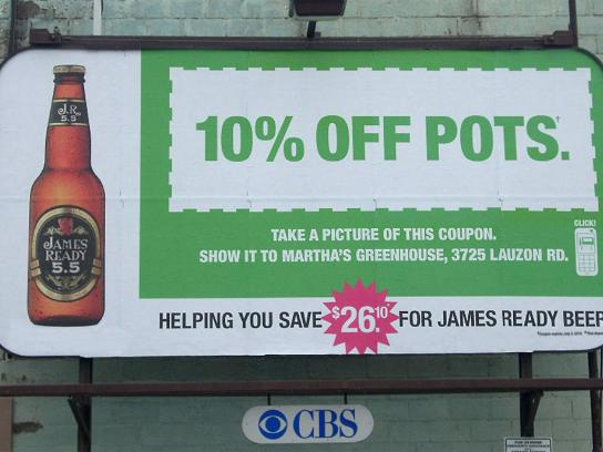 James Ready Outdoor Ad -  Pots