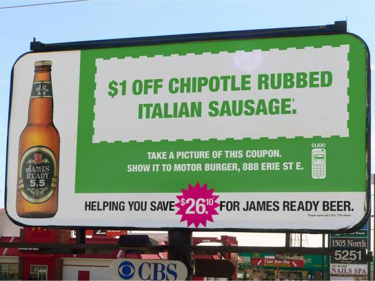 James Ready Outdoor Ad -  Italian Sausage