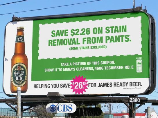 James Ready Outdoor Ad -  Stain Removal
