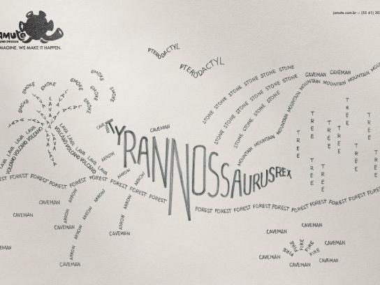 Jamute Print Ad -  Dinosaur