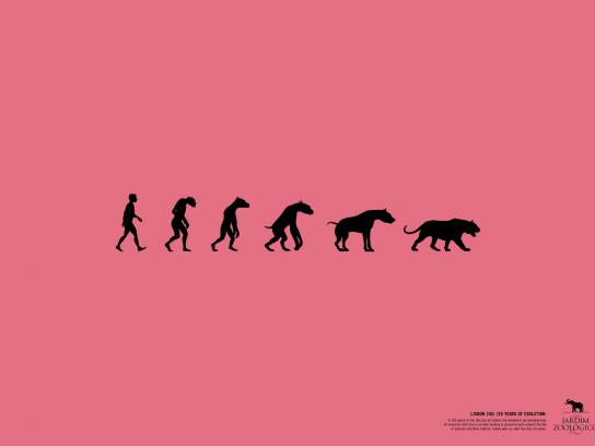 Lisbon Zoo Print Ad -  125 years of evolution, 1