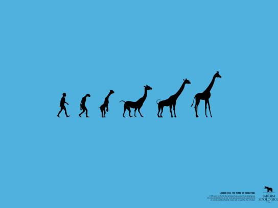 Lisbon Zoo Print Ad -  125 years of evolution, 3