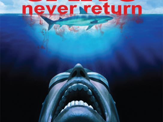 Green Sense Outdoor Ad -  Jaws Never Return poster