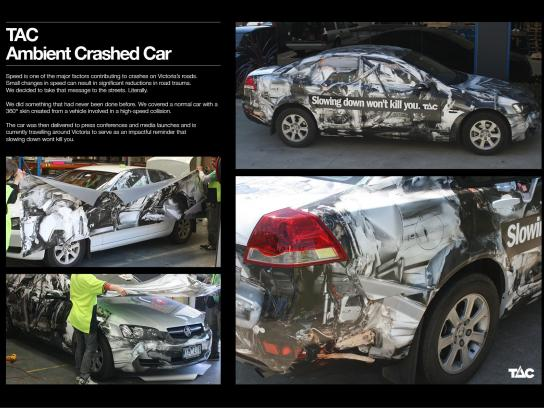 TAC Ambient Ad -  Crashed Car Ambient