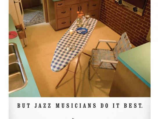Jazz At Five Print Ad -  Table