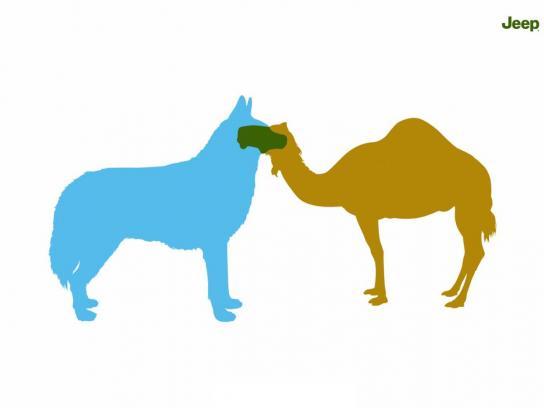 Jeep Print Ad -  Husky & Camel