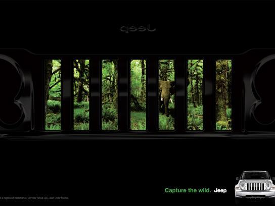 Jeep Print Ad -  Grill, Liberty
