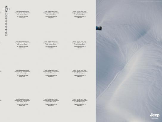 Jeep Print Ad -  Snow