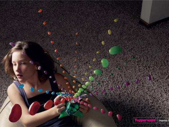 Tupperware Print Ad -  Jellybeans