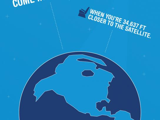 JetBlue Print Ad -  Satellite