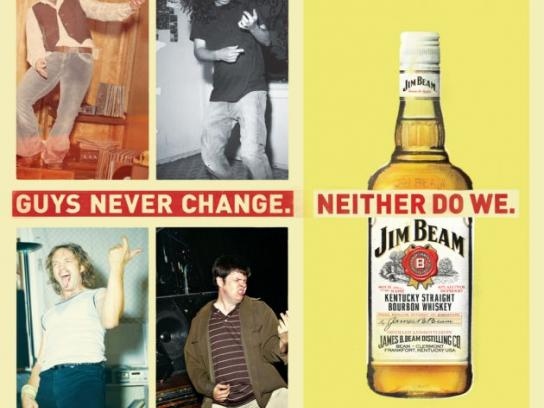 Jim Beam Print Ad -  Air guitar