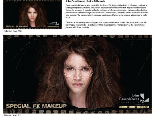 John Casablancas Outdoor Ad -  Special FX Makeup Illusion Billboard