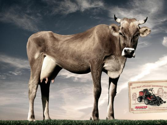 Jonsered Print Ad -  Cow