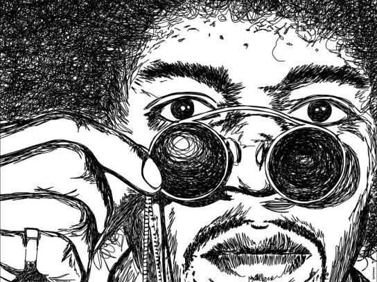 Jornal O Povo Print Ad -  Hendrix