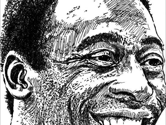 Jornal O Povo Print Ad -  Pelé