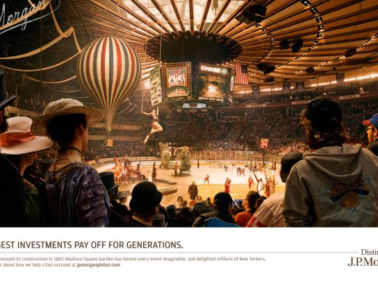 JPMorgan Chase Print Ad -  Madison Square Garden