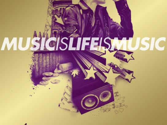 The Recording Academy Outdoor Ad -  Music is Life is Music, Justin Bieber